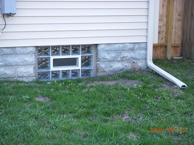 basement block windows ventilation glass block basement window system glass block basement windows